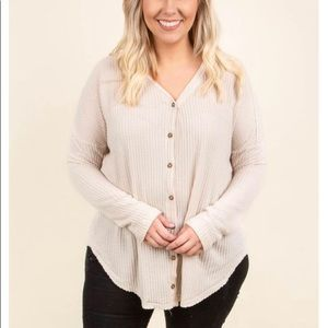 Chic soul Super soft! Button up sweater